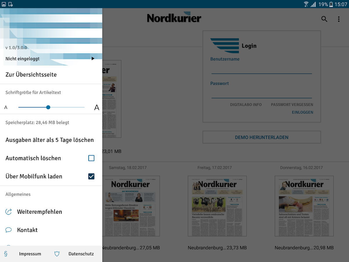 Nordkurier- screenshot