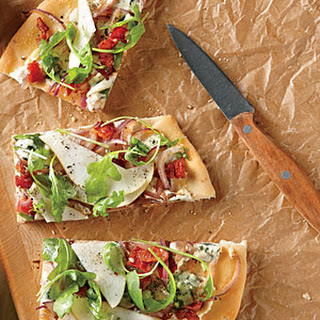 Pear, Blue Cheese, and Bacon Focaccia-Style Pizza