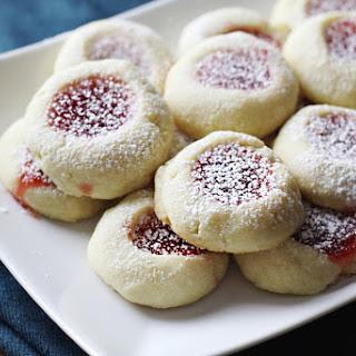Soft Thumbprint Butter Cookies.