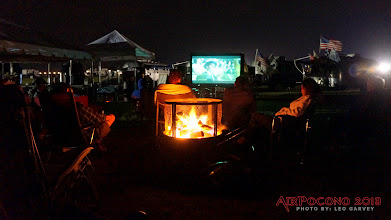 Photo: Campfire or movies?  How about both!  Dave's Sit-In Movie Theater...