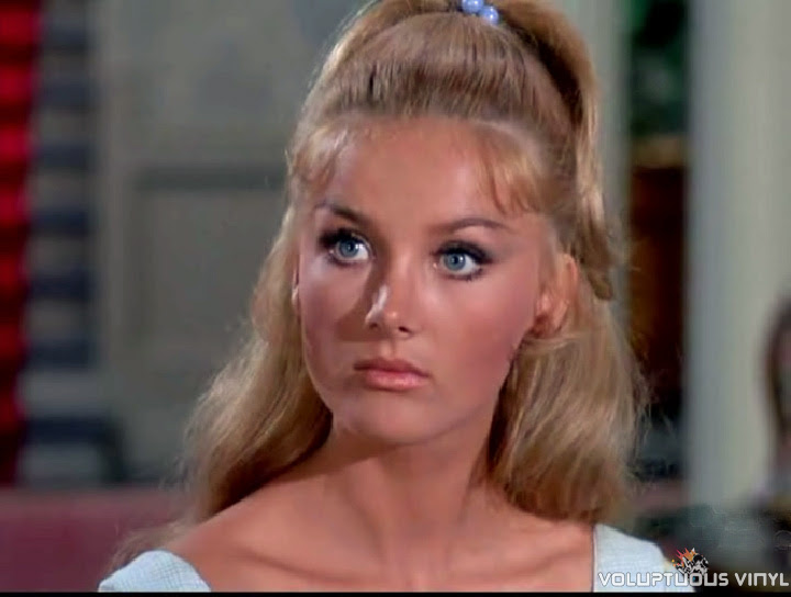 The lovely Barbara Bouchet in a episode of the western series The Virginian