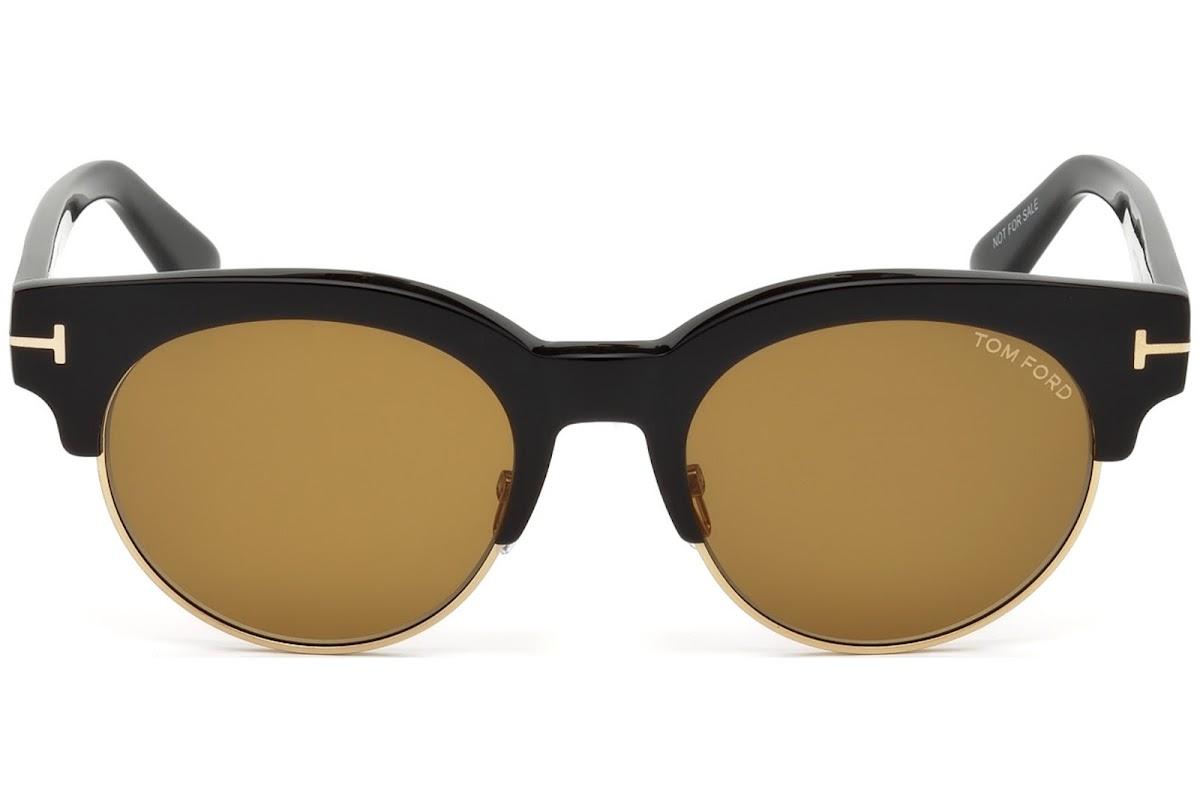 f8ba950305b Sunglasses Tom Ford Henri-02 FT0598 C50 01E (shiny black   brown)