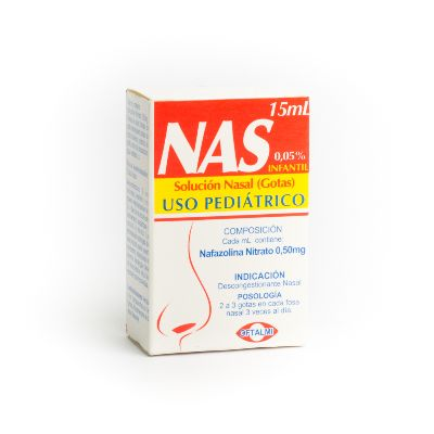 Nafazolina nas Gotas Nasales x15mL Oftalmi Pediátrico