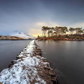 Connemara by Ryszard Lomnicki - Landscapes Cloud Formations ( clouds, ireland, sunset, sunrise, longexposure,  )
