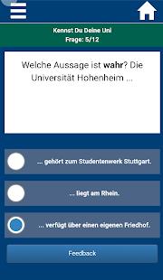 QuizApp Universität Hohenheim - náhled