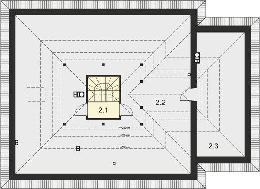 Tryton 4 - Rzut strychu (do adaptacji) - 55,86 m2 (162,27 m2)