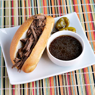 Slow Cooker Hot Beef Sandwiches with Au Jus