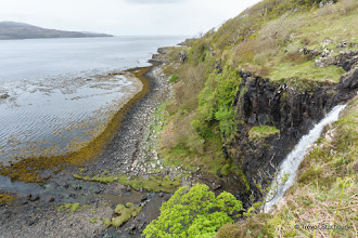 Photo: Eas Fors falling into Loch Tuath, Mull