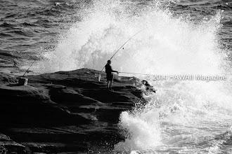 Photo: PEOPLE CATEGORY, FINALIST. Fishing Oahu's southeast coastline. Photo by Marie Frost, Dexter, Michigan.