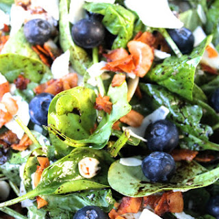 Loaded Blueberry Spinach Salad with Coconut Bacon Recipe