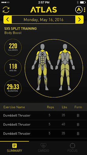 Atlas Workout Tracker for Wear screenshot 1