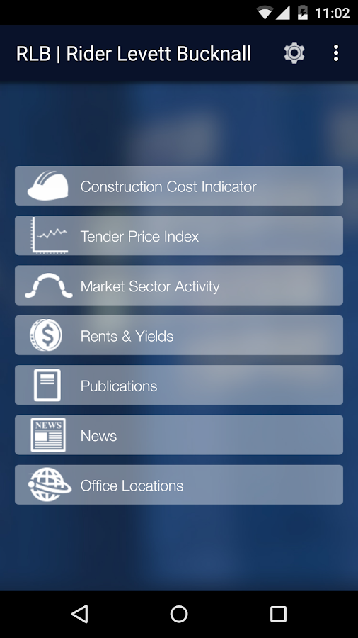 RLB Construction Intelligence- screenshot