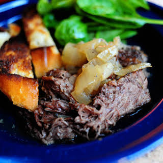 Beer-Braised Beef with Onions.