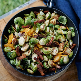 Charred Brussels Sprouts with Bacon and Orange