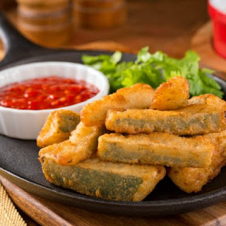Southern Style Fried Pickle Spears.