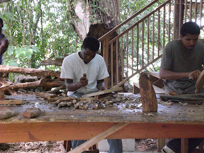 Photo: Woodworkers in St. Lucia