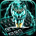 Thunder Neon Wolf Keyboard Theme icon