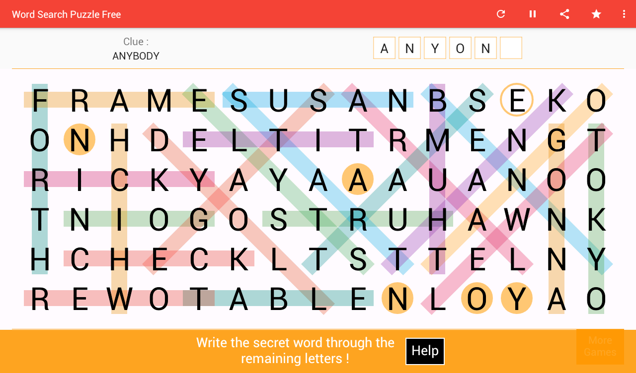 Word Search - Free online games at Gamesgames.com