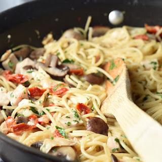 One-Pot Creamy Tuscan Chicken Pasta.