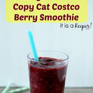 2 Ingredient Copy Cat Costco Berry Smoothie
