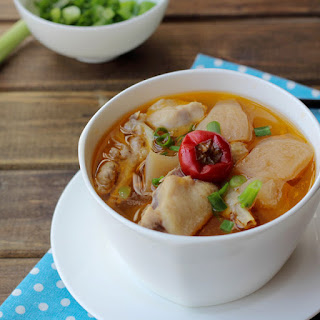 Chicken Soup with Pickled Radish