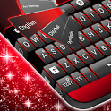 Black Red Keyboard icon