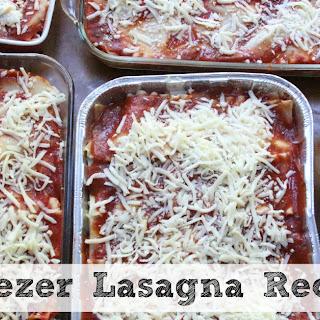 Freezer Friendly Lasagna