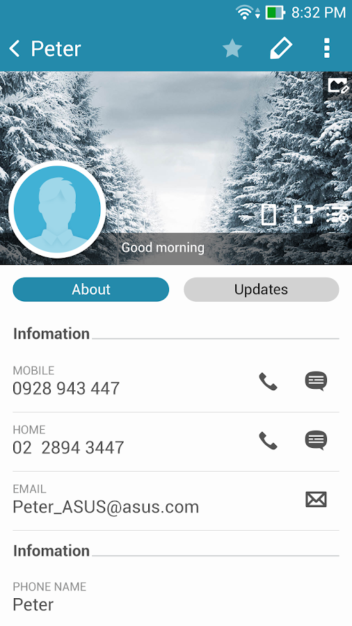 Screenshots of ZenUI Dialer & Contacts for iPhone