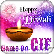 Make your Name on Diwali GIF