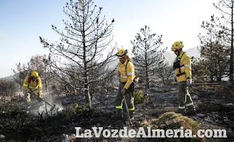 El incendio en la Sierra de Gádor, en imágenes