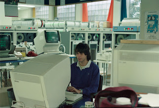 Photo: A 28 year old Doug Wade in the UBC computer room circa 1983