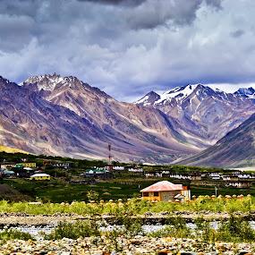 Losar,Kaza,HP,IN by Akash Deep - Landscapes Mountains & Hills ( mountain view, himachal pradesh, amazing view, kaza, losar, mountain viillage, landscape, himalayas )