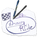 Draw and ride icon