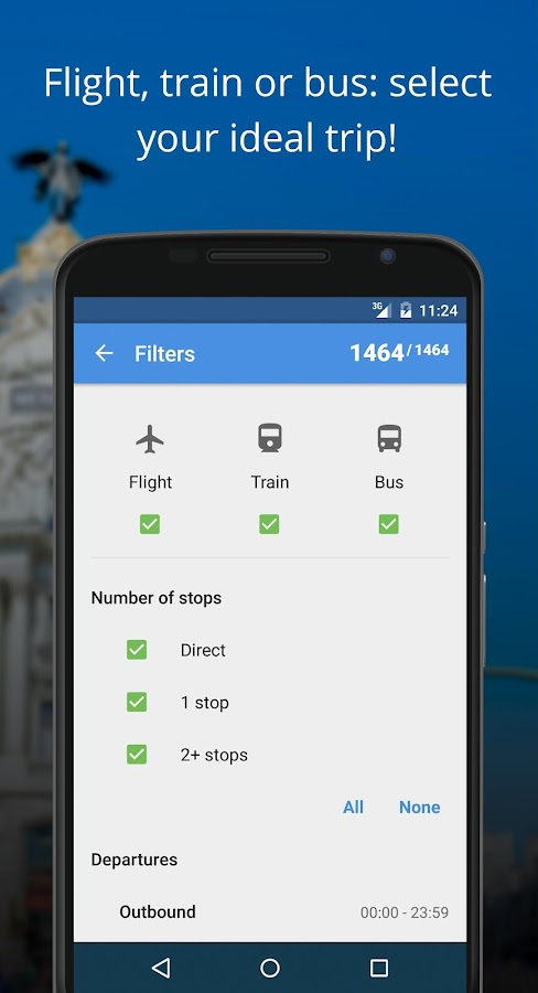 Liligo Flights, Trains & Buses- screenshot