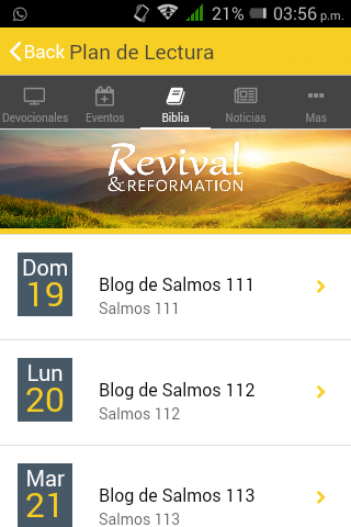 Devocionales diarios- screenshot