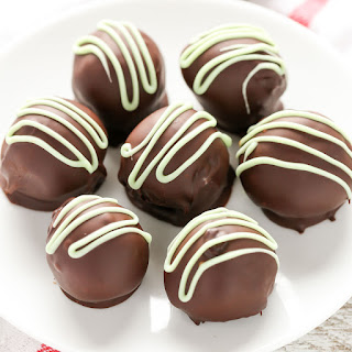 Mint Chocolate Truffles.