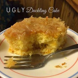 U-G-L-Y duckling cake