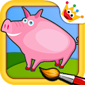 Farm Animals: Kids & Girls puzzles games Free icon