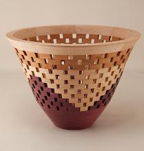 "Photo: Bob Grudberg 9 1/2"" x 7"" open segmented bowl [many]"