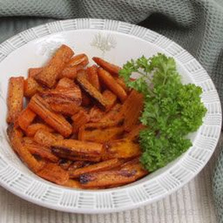Oven Roasted Carrots.