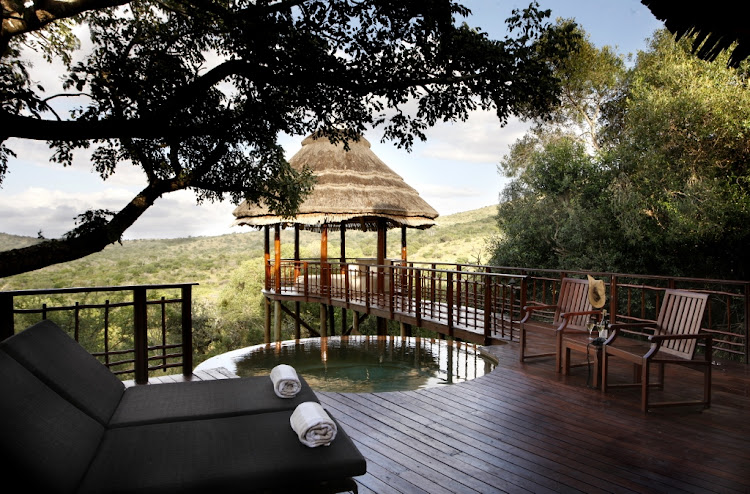 Thanda Safari Lodge exterior.