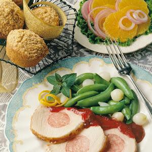 Sausage-Stuffed Pork Roast with Apricot-Mustard Glaze