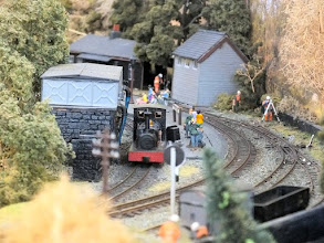 Photo: 013 A classic and instantly recognisable view of the Up side of Tanybwlch station with Hunslet 0-4-0ST Lilla at the large water tower .