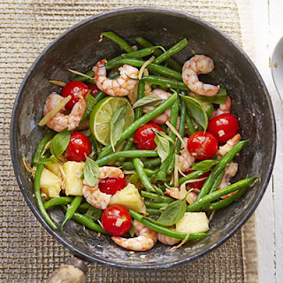 Thai Prawns with Pineapple & Green Beans Recipe
