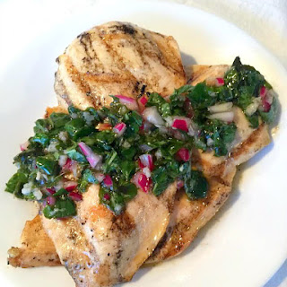 Grilled Chicken with Basil Chimichurri Recipe