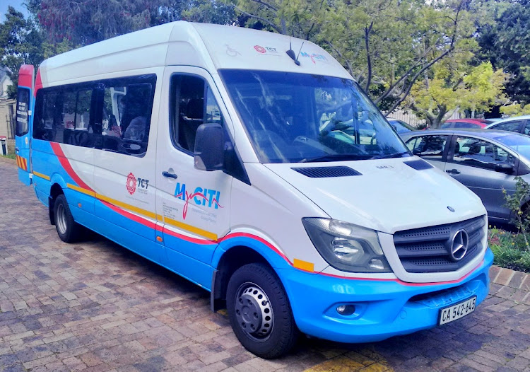One of the City of Cape Town's 24 Dial-a-Ride vehicles that is temporarily off the road.