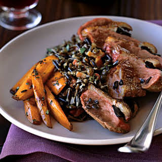 Roast Magret Duck Breasts with Shaved Black Truffles.
