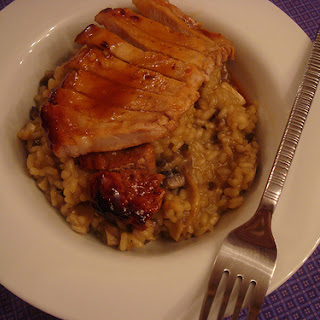Risotto with Glazed Pork Chops