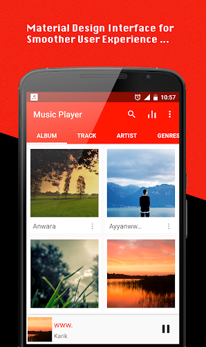 Music Player Android App Screenshot