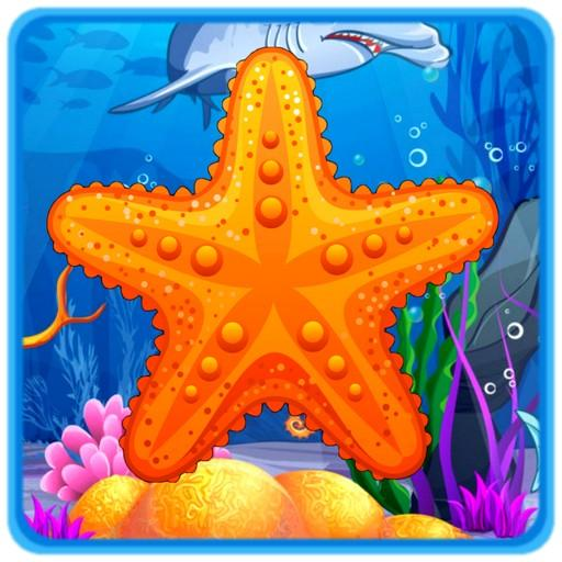 Bubble Star Fish PREMIUM Top Coral Pop